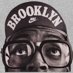 tee shirt spike lee in brooklyn mode in gray sublimation