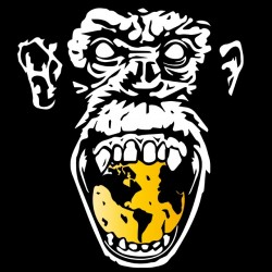 tee shirt angry monkey  sur...