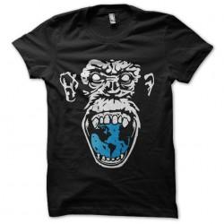angry monkey t-shirt blue...