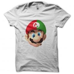 t-shirt logo mario luigi way daft punk white sublimation