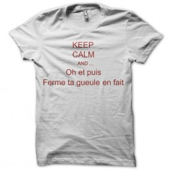 keep calm t-shirt and firm jaws white sublimation