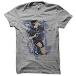 tee shirt zlatan ibrahimovic artistique gris sublimation