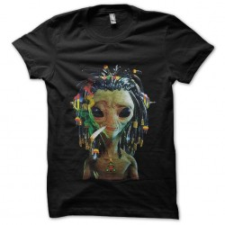 t-shirt rasta ovni black...