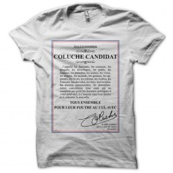 Tee shirt Coluche candidate...