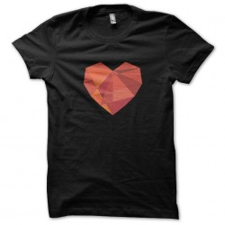 heart shirt in 3D black sublimation