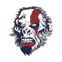 t-shirt katos monkey white sublimation