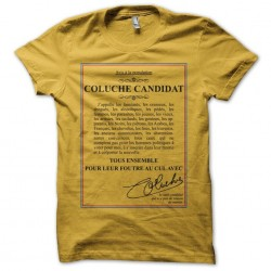 Coluche candidate yellow...