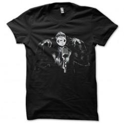shirt monkey singing black sublimation