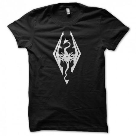 Skyrim dragon symbol black sublimation t-shirt