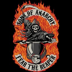 t-shirt sounds of anarchy fear the black reaper sublimation