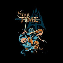 tee shirt star time black...