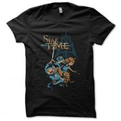 tee shirt star time black sublimation