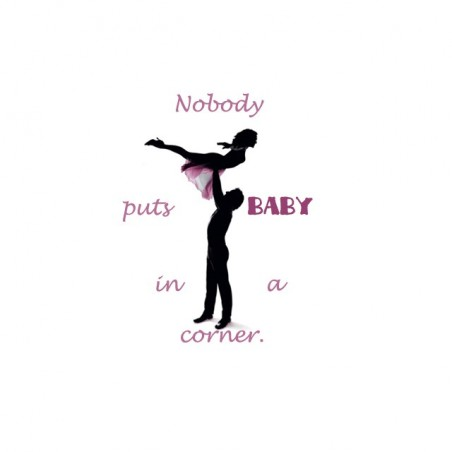 Nobody Puts Baby t-shirt in a corner Dirty Dancing white sublimation
