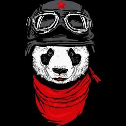 t-shirt of panda way chinese black sublimation