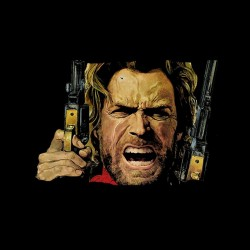 tee shirt clint eastwood  sublimation