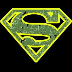 tee shirt super weed parody superman black sublimation