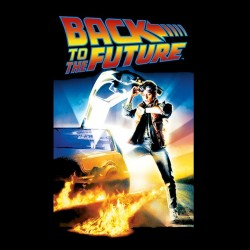 tee shirt Back to the future poster black sublimation