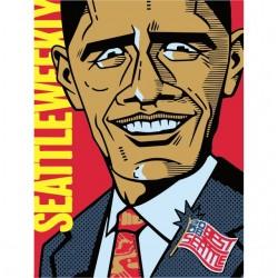 Obama funny white sublimation t-shirt