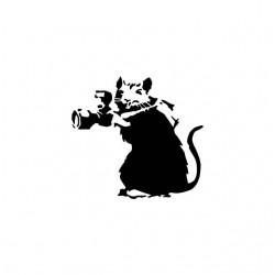 T-shirt rat camera banksy...