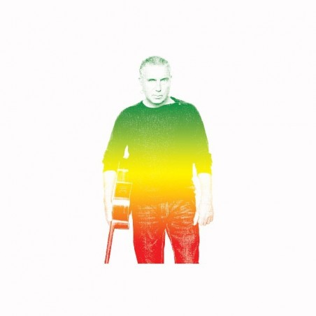 Bernard Lavilliers rasta gradient white sublimation t-shirt