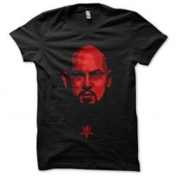 t-shirt satan vector black...