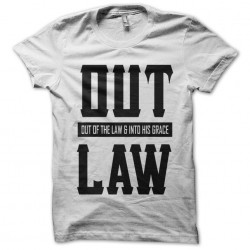 tee shirt out law white...