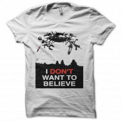 tee shirt i don't want to believe  sublimation