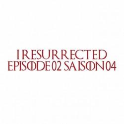 tee shirt game of thronesepisode 2 season 4 white sublimation