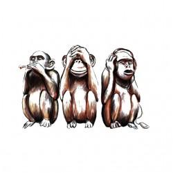 tee shirt Three wise monkeys  sublimation