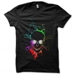 shirt glowing skull black...