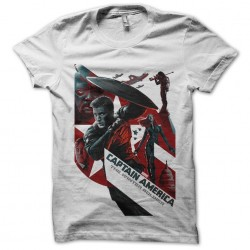 t-shirt captain america logo white film sublimation