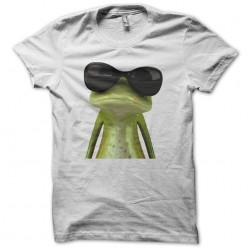 Cool white sublimation frog t-shirt