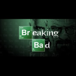 tee shirt serie Breaking Bad logo in black sublimation