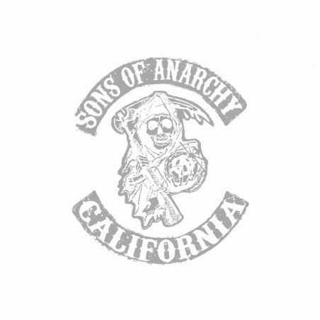 T-shirt Sons Of Anarchy California rare gray silver white sublimation