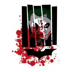 t-shirt joker bat man white...