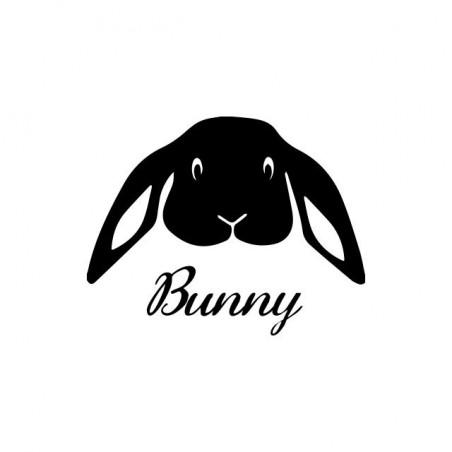 T-shirt bunny sad white sublimation