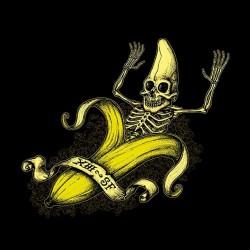 banana skeleton t-shirt in black sublimation