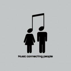 Tee shirt Music Connecting...