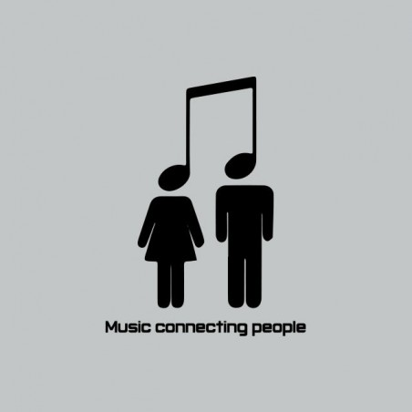 Tee shirt Music Connecting People gris sublimation
