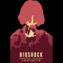 black sublimation bioshock t-shirt