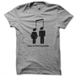 Music Connecting People t-shirt gray sublimation
