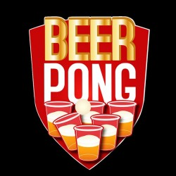 beer pong black sublimation tee shirt