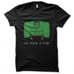 hulk tee shirt 8 bit black...