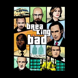 tee shirt breaking bad parodie GTA 5 nouvelle version  sublimation