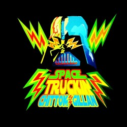 tee shirt spacetruck black sublimation