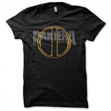 Pantera t-shirt CFH golden grungy black sublimation