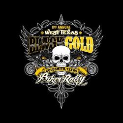 t-shirt black gold biker rally black sublimation