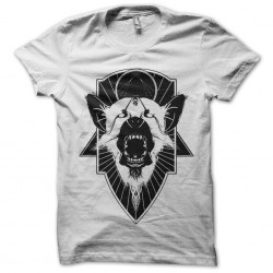 dog tee shirt in white anger sublimation