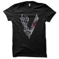 Vikings logo t-shirt black...