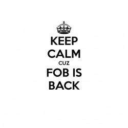 Tee shirt keep calm cuz fob...